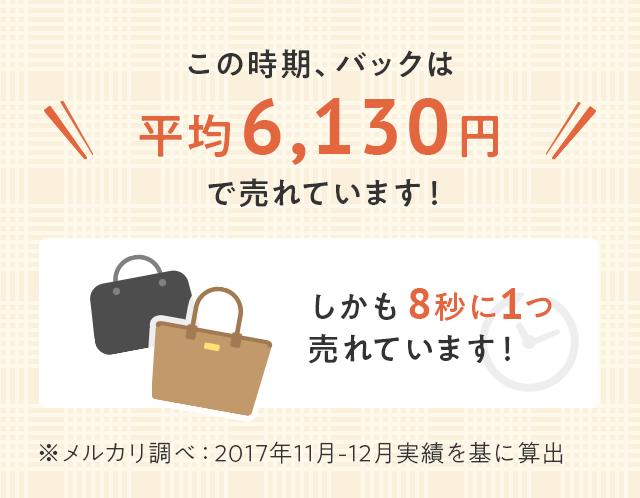 この時期、バッグは平均6,130円